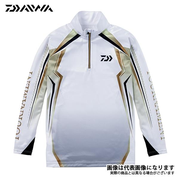 【ダイワ】トーナメント ドライシャツ ホワイト L(DE-77008T)
