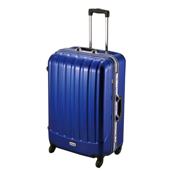 【キャプテンスタッグ】トラベルスーツケース TSAロック付きハードフレームタイプ L ブルー(MT-3553)