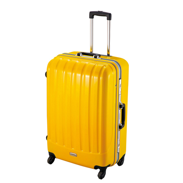 【キャプテンスタッグ】トラベルスーツケース TSAロック付きハードフレームタイプ L イエロー(MT-3556)