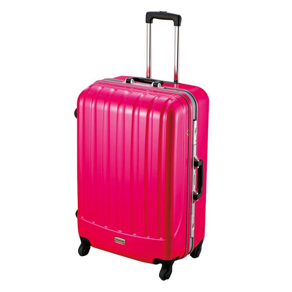 【キャプテンスタッグ】トラベルスーツケース TSAロック付きハードフレームタイプ L ピンク(MT-3562)