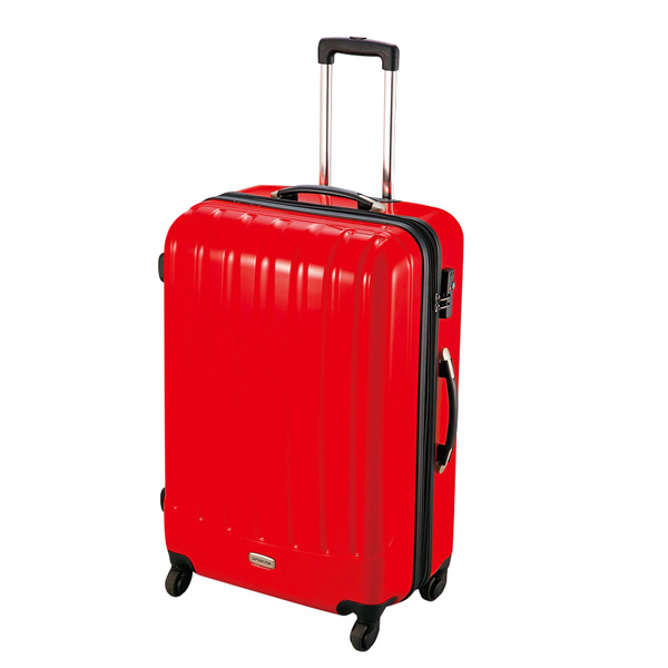 【キャプテンスタッグ】トラベルスーツケース TSAロック付きダブルファスナータイプ L レッド(MT-3571)