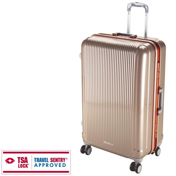 【キャプテンスタッグ】グレル トラベルスーツケース TSAロック付HFタイプ L シャンパンベージュ(UV-1)スーツケース 旅行 バッグ カバン キャプテンスタッグ CAPTAIN STAG キャンプ用品 アウトドア用品