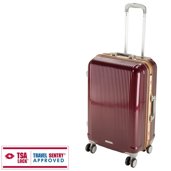 【キャプテンスタッグ】グレル トラベルスーツケース TSAロック付HFタイプ M ワインレッド(UV-5)