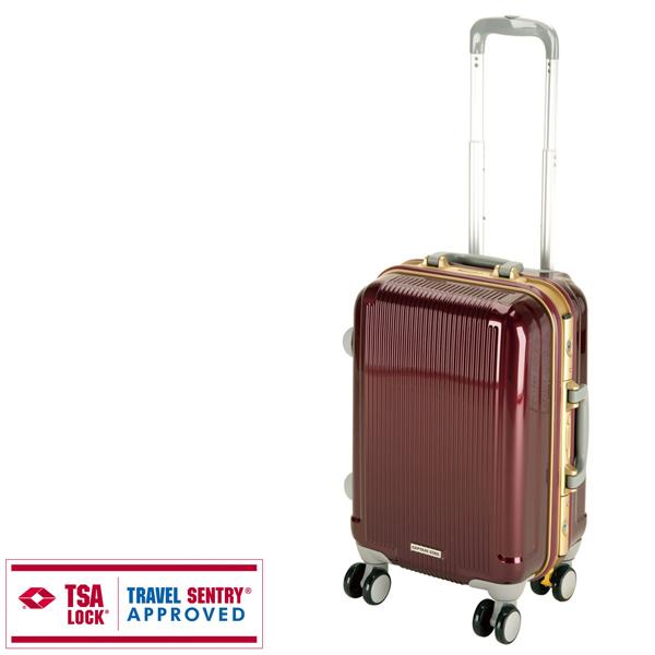 【キャプテンスタッグ】グレル トラベルスーツケース TSAロック付HFタイプ S ワインレッド(UV-6)
