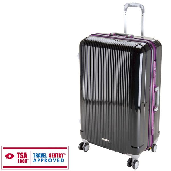 【キャプテンスタッグ】グレル トラベルスーツケース TSAロック付HFタイプ L ブラック(UV-10)