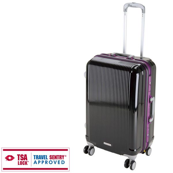 【キャプテンスタッグ】グレル トラベルスーツケース TSAロック付HFタイプ M ブラック(UV-11)