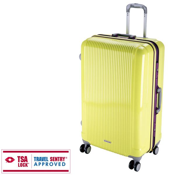 【キャプテンスタッグ】グレル トラベルスーツケース TSAロック付HFタイプ L アップルグリーン(UV-13) キャプテンスタッグ CAPTAIN STAG キャンプ用品 アウトドア用品