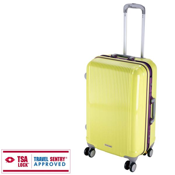 【キャプテンスタッグ】グレル トラベルスーツケース TSAロック付HFタイプ M アップルグリーン(UV-14)