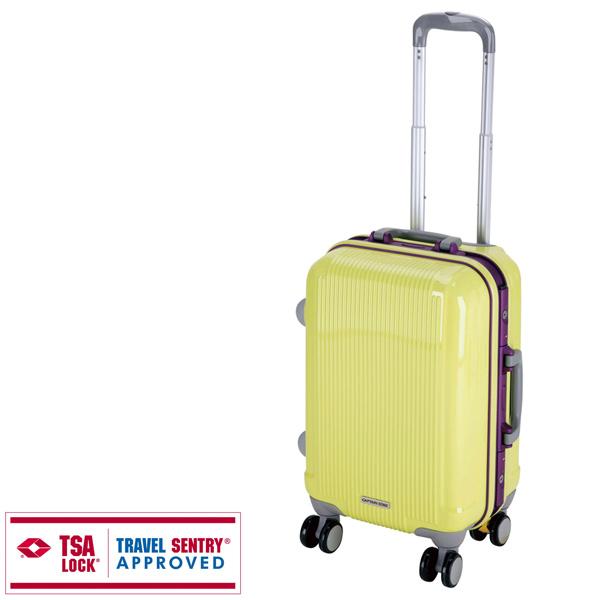 【キャプテンスタッグ】グレル トラベルスーツケース TSAロック付HFタイプ S アップルグリーン(UV-15)