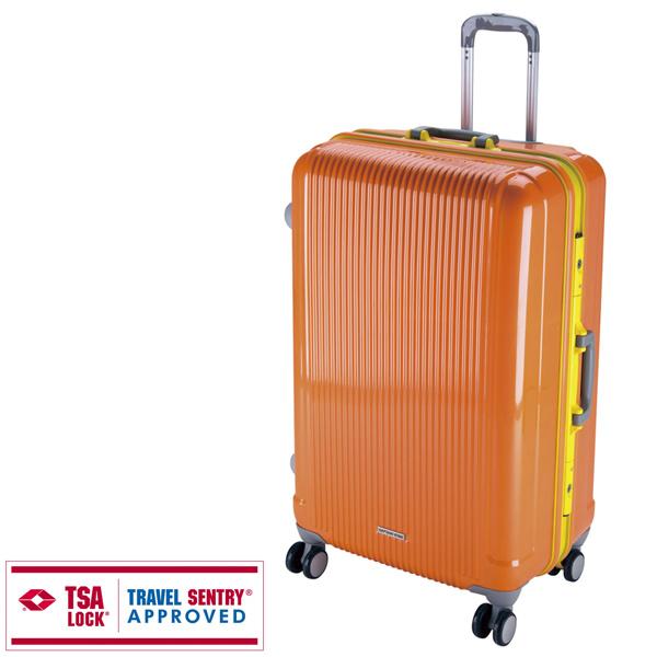 【キャプテンスタッグ】グレル トラベルスーツケース TSAロック付HFタイプ L サンセットオレンジ(UV-19) キャプテンスタッグ CAPTAIN STAG キャンプ用品 アウトドア用品