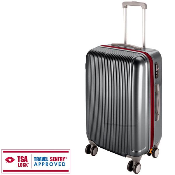 【キャプテンスタッグ】グレル トラベルスーツケース TSAロック付WFタイプ L スチールグレー(UV-28) キャプテンスタッグ CAPTAIN STAG キャンプ用品 アウトドア用品
