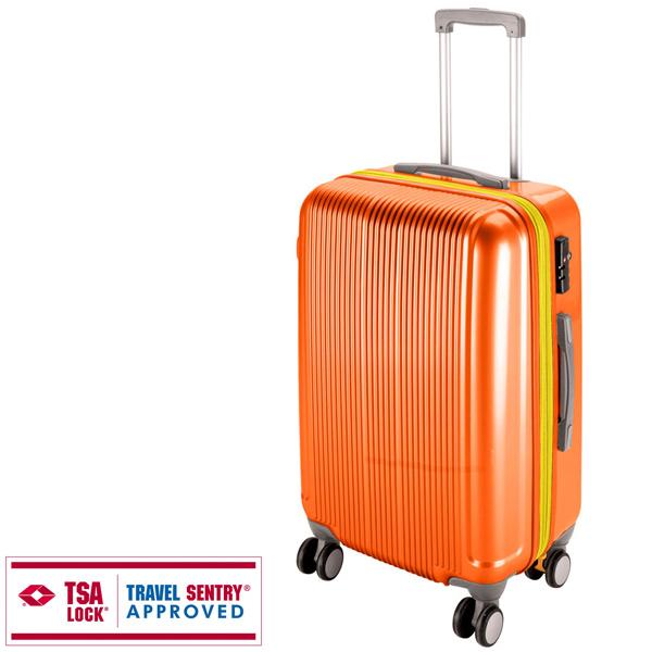 【キャプテンスタッグ】グレル トラベルスーツケース TSAロック付WFタイプ L サンセットオレンジ(UV-40)