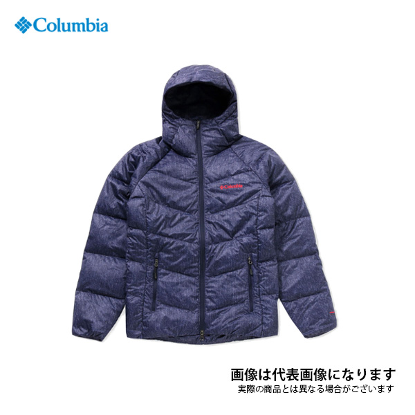 【在庫処分特価】 ライトソンピークフーディー 426 Columbia Navy Denim Pattern XL PM5607 コロンビア アウトドア 防寒着 ジャケット 防寒