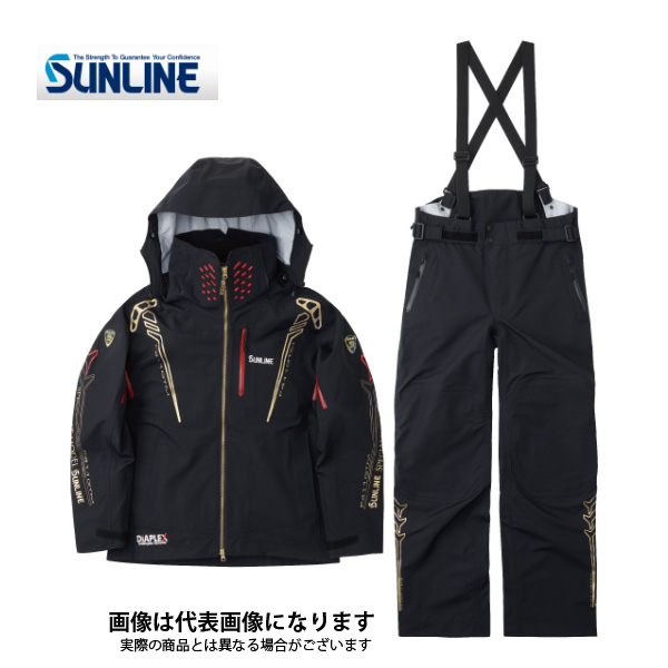 【在庫処分特価】 SUW-1809 DIAPLEXオールウェザースーツ ブラック LL サンライン