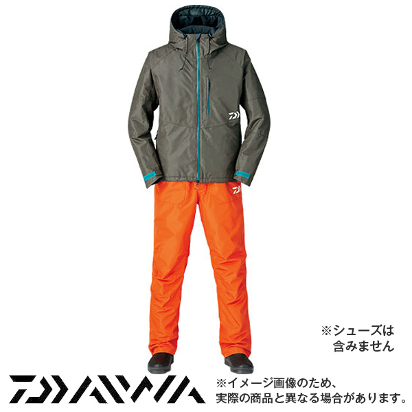 DW-3105 レインマックス ハイロフト ウィンタースーツ ダークブラウン/2XL~3XL 2XL DW-3105 ダイワ 釣り 防寒着 防寒ウェア