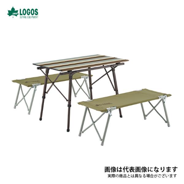 LOGOS LIFE オートレッグベンチテーブルセット4 ヴィンテージ 73188002 ロゴス