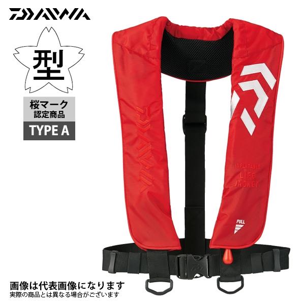 インフレータブルライフジャケット DF-2608 レッド 肩掛けタイプ タイプA 桜マーク ダイワ ライフジャケット 自動膨張式