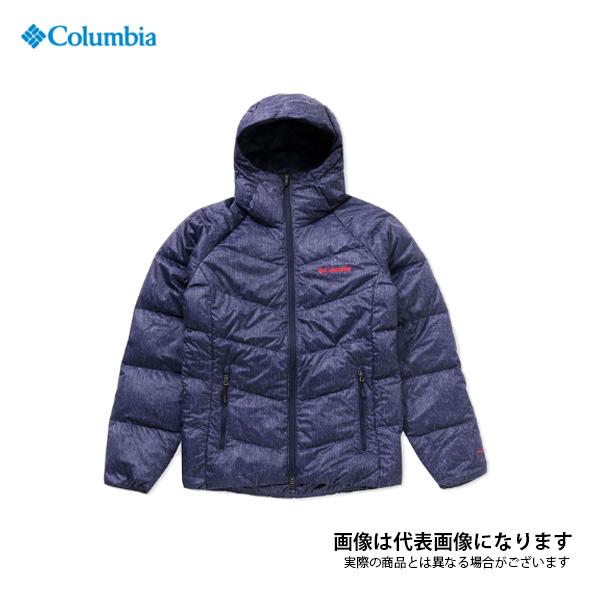 ライトソンピークフーディー 426 Columbia Navy Denim Pattern XXL PM5607 コロンビア アウトドア 防寒着 ジャケット 防寒 【処分特価】