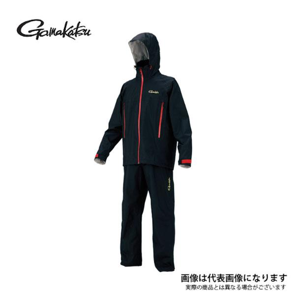 GM3446 ゴアテックスレインスーツ ブラック M がまかつ レインウェア ゴアテックス 釣り 【処分特価】