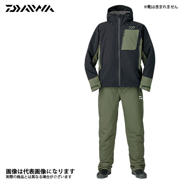 DW-3107 レインマックス ハイパー ストレッチ ウィンタースーツ ブラック XL DW-3107 ダイワ 釣り 防寒着 上下セット 防寒 【処分特価】