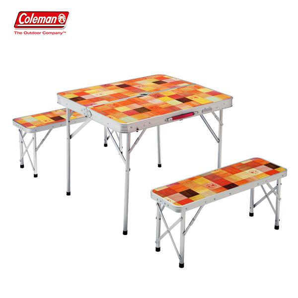 ナチュラルモザイクファミリーリビングセットミニプラス 2000026758 コールマン アウトドア チェア テーブル セット