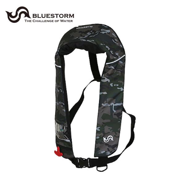 膨張式ライフジャケット グリーンカモ タイプA 桜マーク BSJ-2520RS 高階救命器具 ライフジャケット