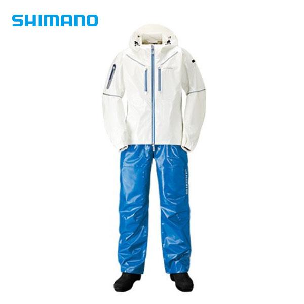 エントリーでP+4倍 RA-033R!9日1:59迄*SS・3Dマリンスーツ ホワイト/ブルー XL RA-033R シマノ XL レインウェア 雨具 雨具 釣り フィッシング, ヘルシークリエーション:a6df0ef6 --- officewill.xsrv.jp