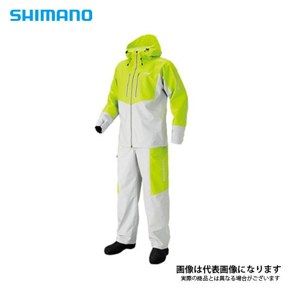 マリンライトスーツ ライム 3XL RA-034N シマノ 【処分特価】 船釣り レインウエア レインスーツ 雨具
