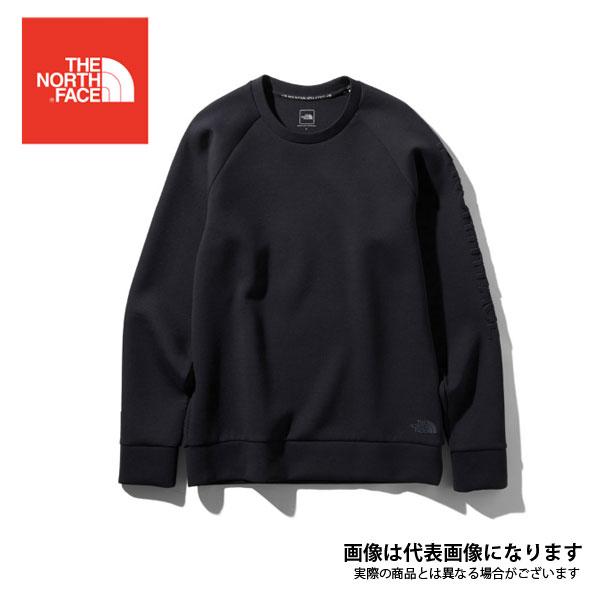 テックエアースウェットクルー(メンズ) CR ブラック L NT11999 ノースフェイス シャツ 長袖