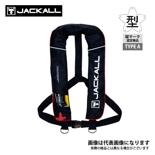 自動膨張式ライフジャケット ブラック レッド タイプA ついに再販開始 JK2520RS ラッピング無料 ジャッカル 桜マーク