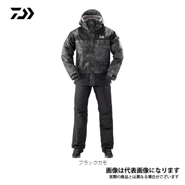 レインマックス ウィンタースーツ ブラックカモ 3XLサイズ DW-35009 ダイワ