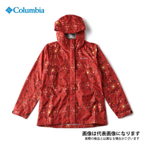 ワバシュ ウィメンズパターンドジャケット 698 Sail Red Pattern L PL3309 コロンビア