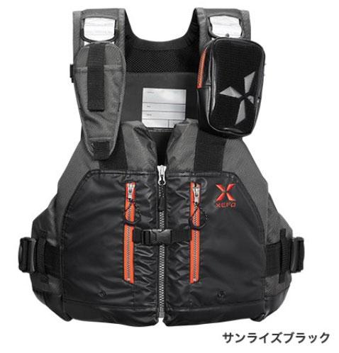 シマノ XEFO ロックトラバースベスト VF-297Q〔サンライズブラック〕