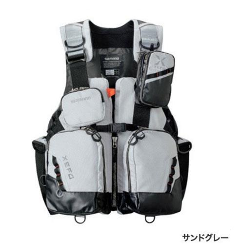 シマノ XEFO トリッパーゲームベスト VF-275R〔サンドグレー/M~XL〕