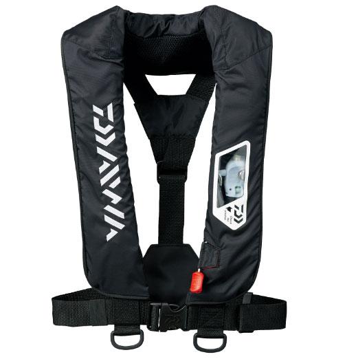 ダイワ ウォッシャブルライフジャケット(肩掛けタイプ手動・自動膨張)DF-2007〔ブラック〕