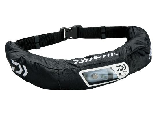 ダイワ ウォッシャブルライフジャケット(腰巻タイプ手動・自動膨張)DF-2207〔ブラック〕