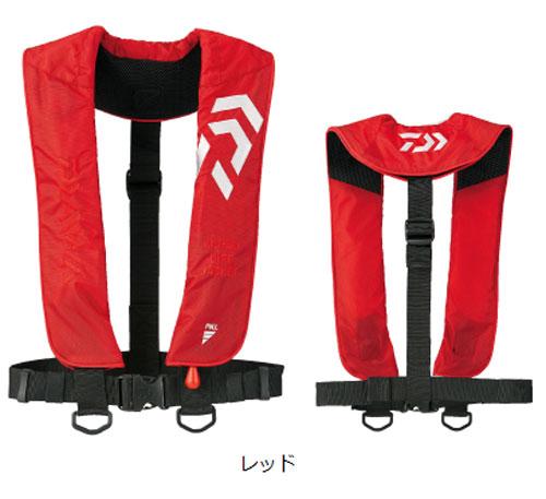 ダイワ インフレータブルライフジャケット(肩掛けタイプ手動・自動膨張)DF-2608〔レッド〕