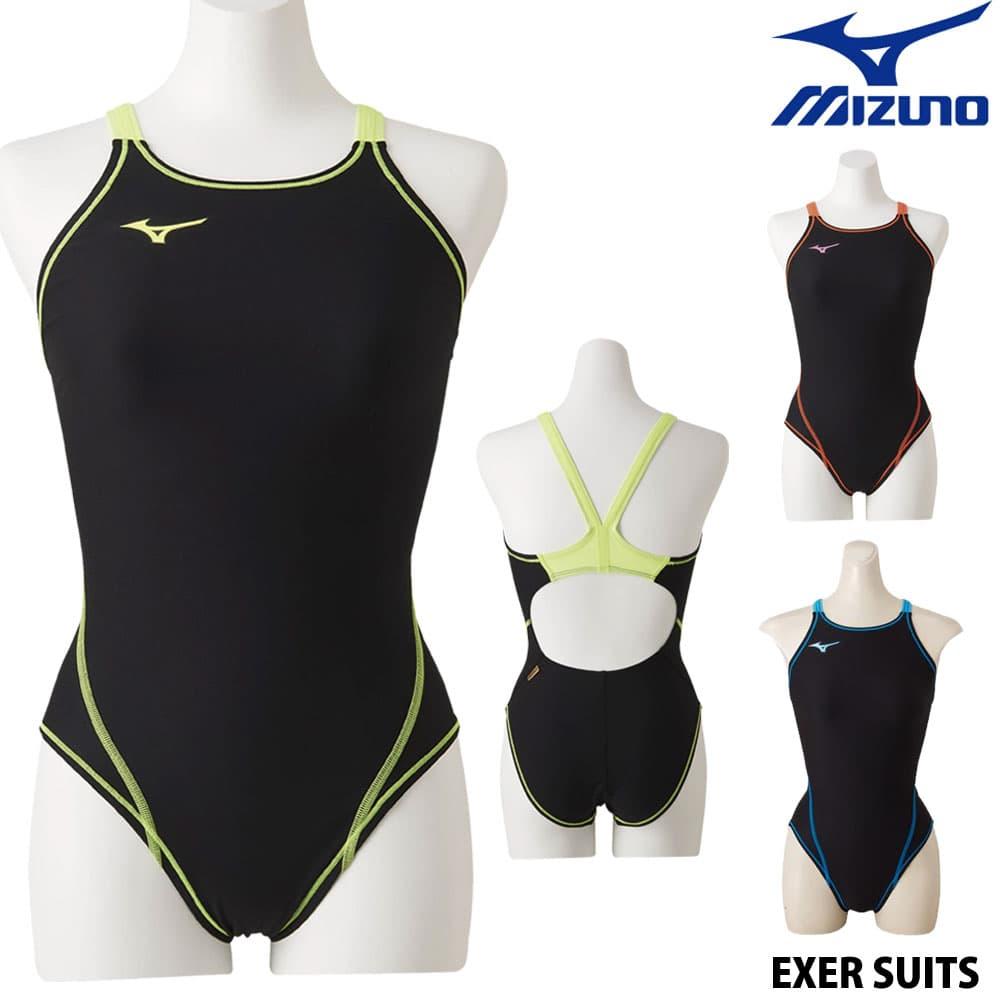 ミズノ MIZUNO 競泳水着 レディース 練習用水着 エクサースーツ ミディアムカット U-Fit 競泳練習水着 N2MA8260