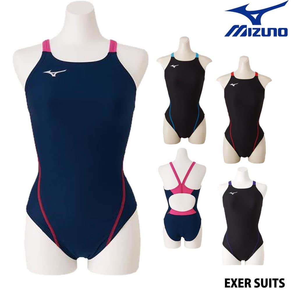 ミズノ MIZUNO 競泳水着 レディース 練習用水着 エクサースーツ ミディアムカット U-Fit 競泳練習水着 N2MA8261