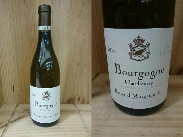 正規品:16:[2016] ブルゴーニュ シャルドネ(ベルナール・モロー)Bourgogne Chardonnay (Bernard Moreau)