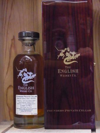 【ミニチュア付き】ザ・イングリッシュウイスキー ファウンダーズ・プライベート・セラー ピーテッド・ソーテルヌ・カスク 2007 THE ENGLISH WHISKY FOUNDERS PRIVATE CELLAR PEATED SAUTERNES CASK 2007