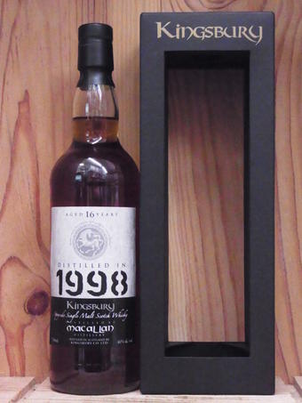 [1998] makkaran 16年国王巴里限量发行版银子[1998]MACALLAN 16Years KINGSBURY'S LIMITED EDITION SILVER