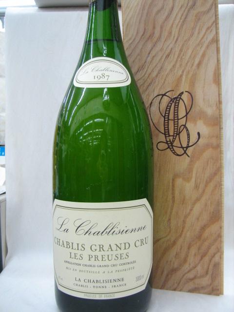 [1987] シャブリ レ・プリューズ 3000ml シャブリジェンヌ(木箱入り)Chablis les Preuses Chablisienne