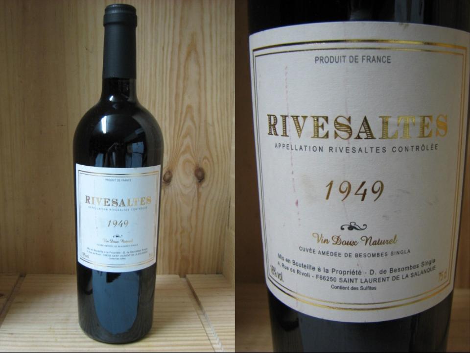 [1949] リヴザルト (甘口) ベスコンブ・シングラRivesaltes Vin doux naturel Bescombes-Singla