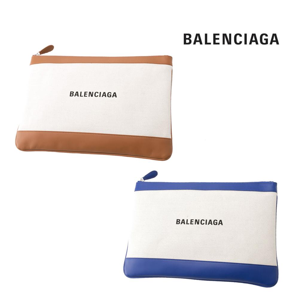 8月20日限定 ポイント5倍 バレンシアガ BALENCIAGA クラッチバッグ NAVY CLIP Mキャンバス 420407AQ37N ギフトラッピング無料 売れ行きがよい お盆 販促品