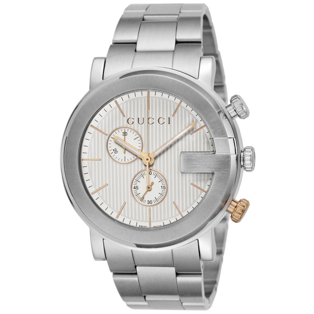 グッチ GUCCI 腕時計 GUC・15A G-CHRONO ステンレスMウォッチ YA101360  ギフトラッピング無料 ラッキーシール対応