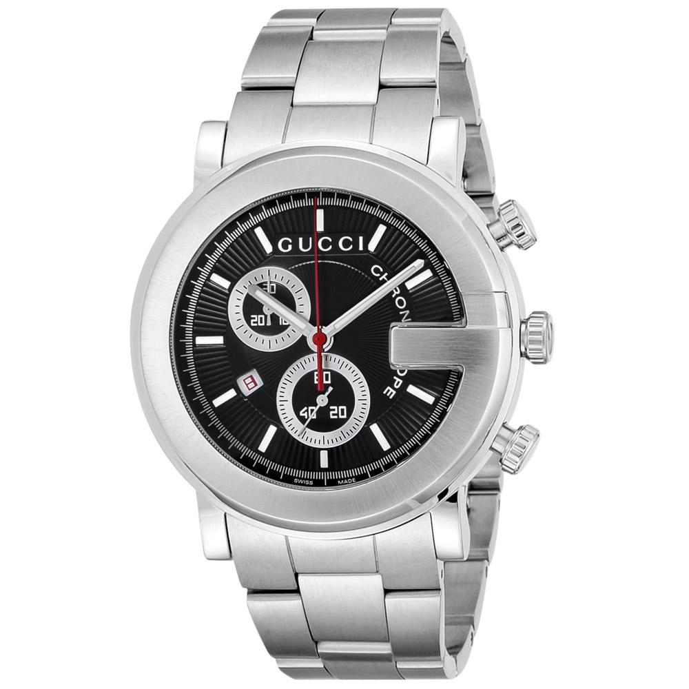 グッチ GUCCI 腕時計 101G-ROUNDクロノグラフMウォッチ YA101309  ギフトラッピング無料 ラッキーシール対応