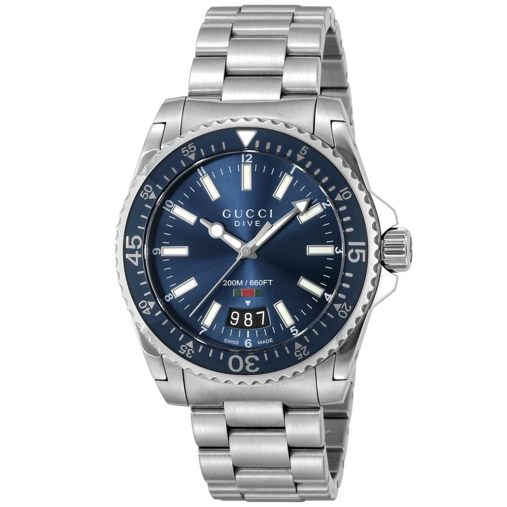 グッチ GUCCI 腕時計 DIVE ステンレスベルトMウォッチ YA136311  ギフトラッピング無料 ラッキーシール対応