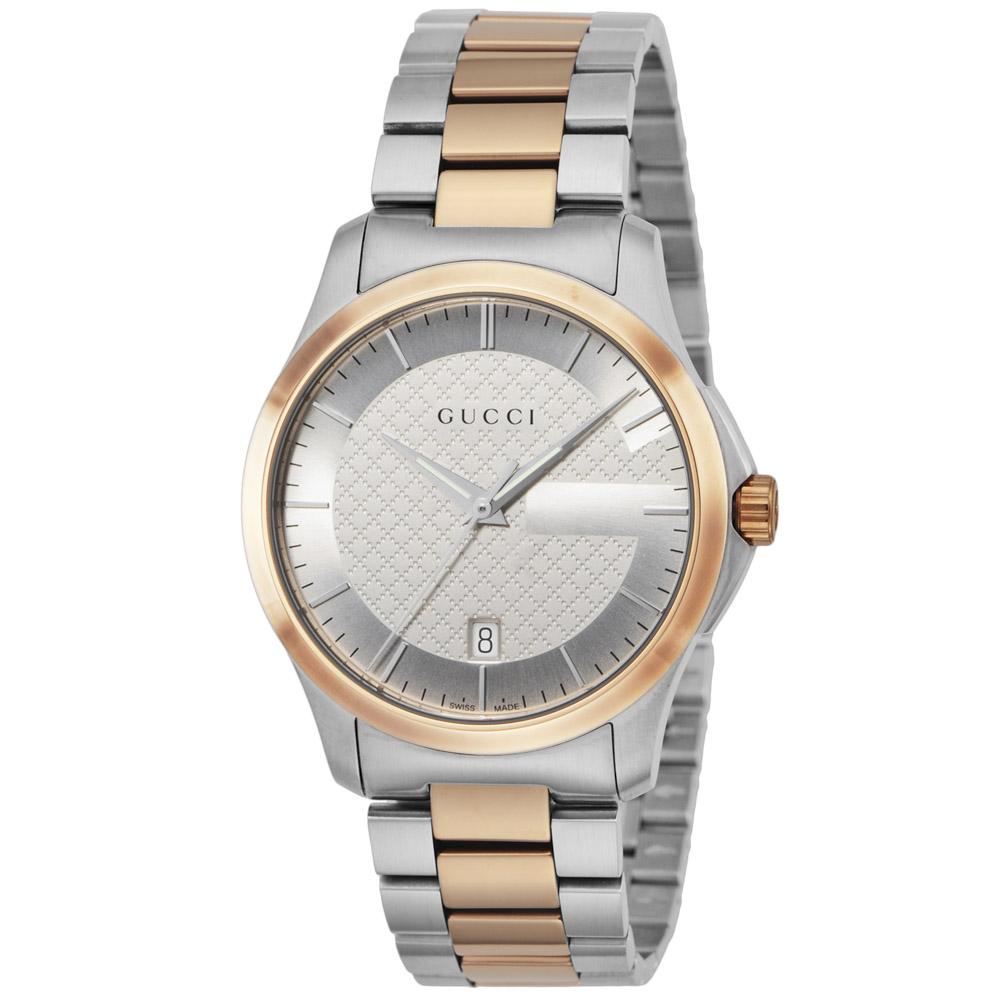 グッチ GUCCI 腕時計 Gタイムレス ステンレスベルトMウォッチ YA126447  ギフトラッピング無料 ラッキーシール対応