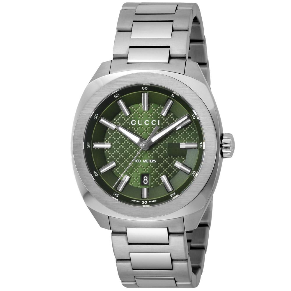 【7月19日-26日限定★エントリーでポイント5倍】グッチ GUCCI 腕時計 GG2570 ステンレスベルトMウォッチ YA142313  ギフトラッピング無料